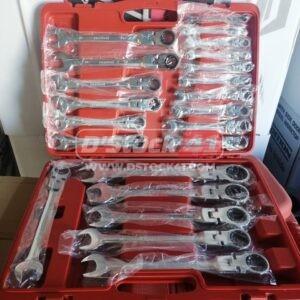 Coffret malette de clés plates articulées a cliquet 22pcs samtool en vente chez dstock41