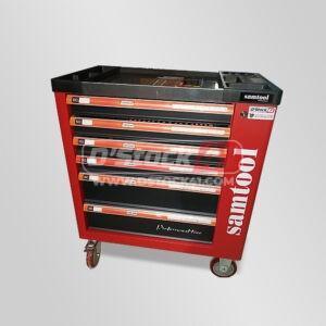 Servante d'atelier Samtool 6 tiroirs dont 5 remplis d'outils + placard vendue par DSTOCK 41 kraftside