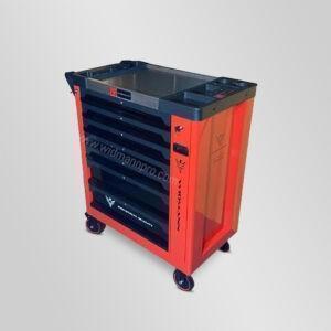 Servante à outils rouge WIDMANN 8 tiroirs 7 remplis + clé dynamométrique Modèle 2021 vendue par Dstock 41