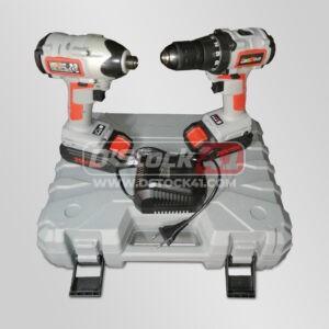 Coffret double Visseuse + visseuse à chocs 20v Kraftmuller Pro Line vendu par D'stock41